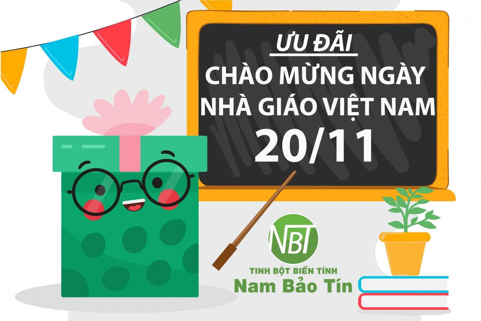 Nam Bảo Tín khuyến mãi chào mừng ngày Nhà giáo Việt Nam 20/11
