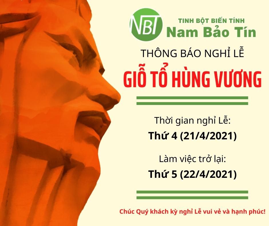 Nam Bảo Tín - Thông báo lịch nghỉ Lễ Giổ tổ Hùng Vương 10/3 AL