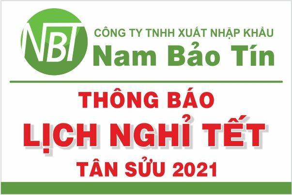 Thông báo Lịch nghỉ Tết Tân Sửu 2021 - Nam Bảo Tín