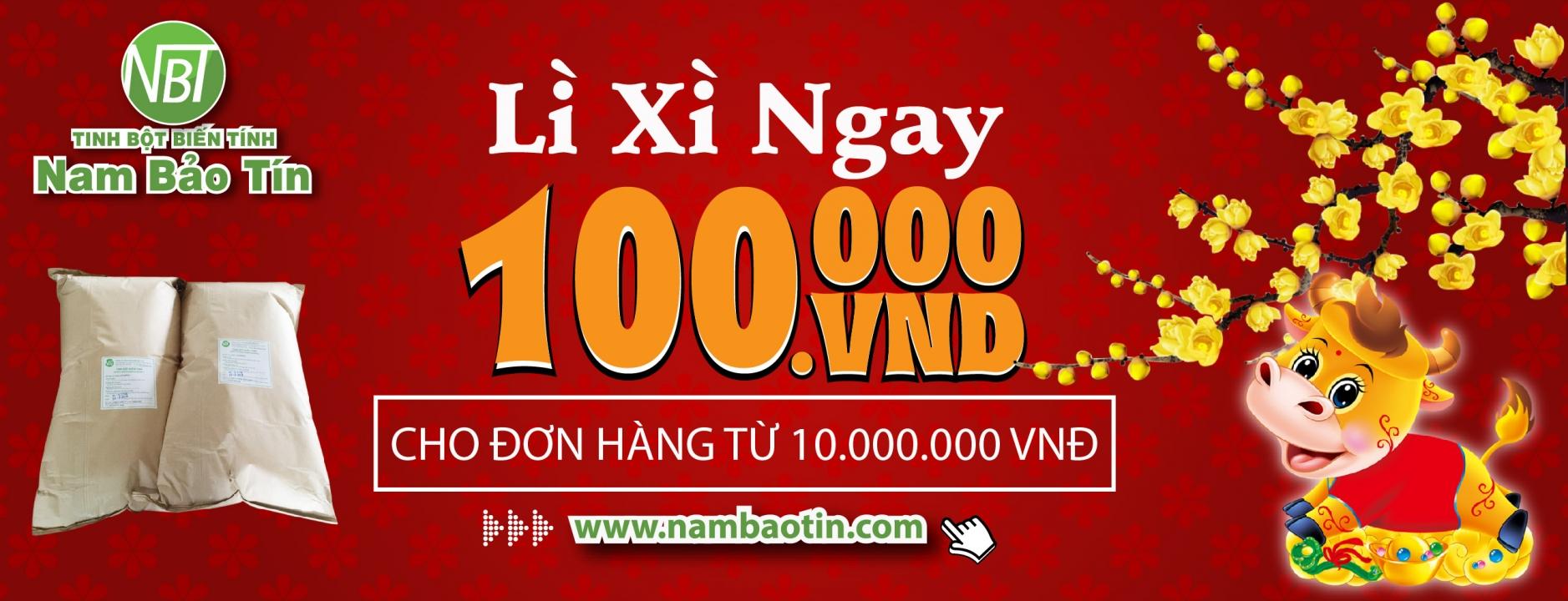 Vui Tết Tân Sửu Nhận Ngay Lì Xì - Nam Bảo Tín