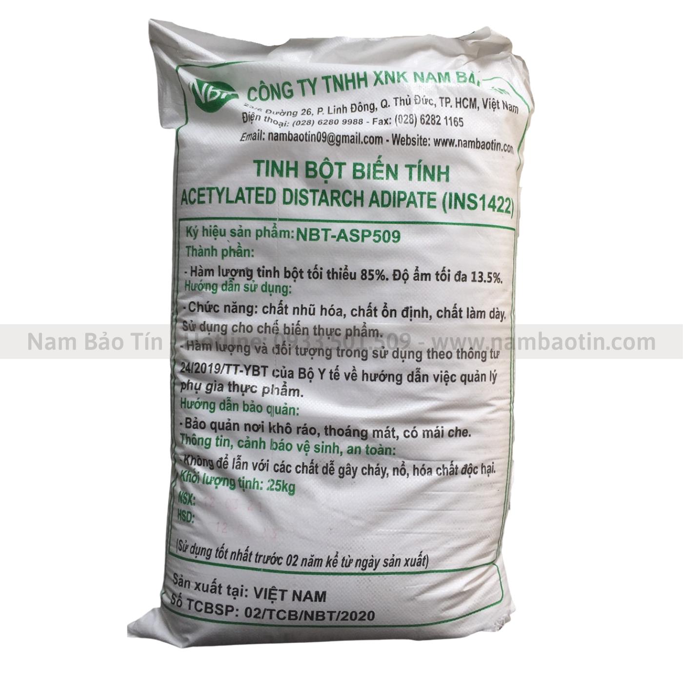 Tinh bột biến tính Acetylated Distarch Adipate INS1422